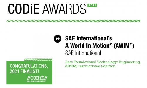 CODiE STEM finalist certiification